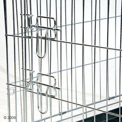 double door cage de transport pour chien zooplus. Black Bedroom Furniture Sets. Home Design Ideas