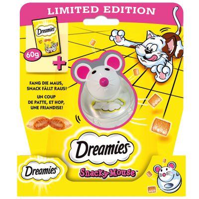 Dreamies se sýrem 60 g + hračka Myška na snacky za skvělou cenu!