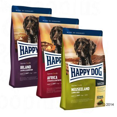happy dog supreme 39 kulinarische weltreise 39 3 x 4 kg g nstig bei zooplus. Black Bedroom Furniture Sets. Home Design Ideas