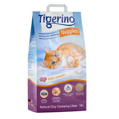 Kočkolit Tigerino Nuggies - vůně dětského pudru