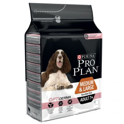 purina pro plan senior medium large sensitive skin optiderma salmon. Black Bedroom Furniture Sets. Home Design Ideas