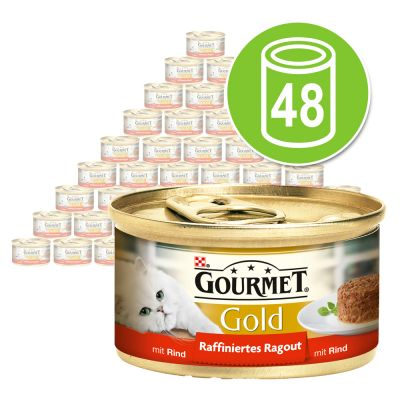 gourmet gold katzenfutter g nstig bei zooplus gourmet gold raffiniertes ragout 48 x 85 g. Black Bedroom Furniture Sets. Home Design Ideas