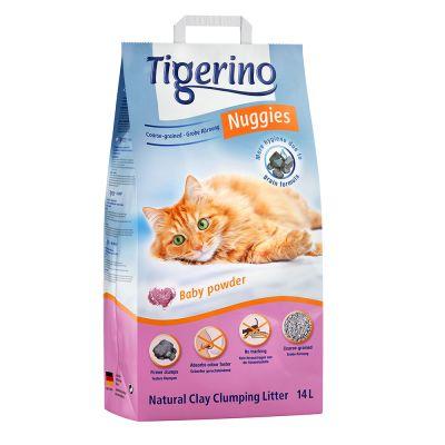 Tigerino Nuggies kočkolit s vůní dětského pudru - hrubozrnný